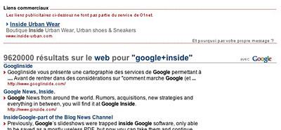 01net, gros plan sur les résultat de recherche web