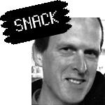"""Portrait de Jean-Baptiste Ingold avec le logo """"snack"""""""