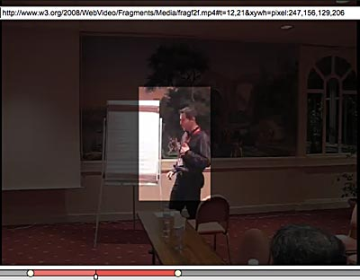 Media Fragments capable video player