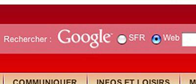 Champs de recherche sur sfr.fr