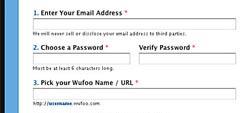 Page d'inscription de Wufoo